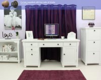 New England white painted furniture large office PC ...