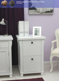 New England white painted furniture small office computer ...