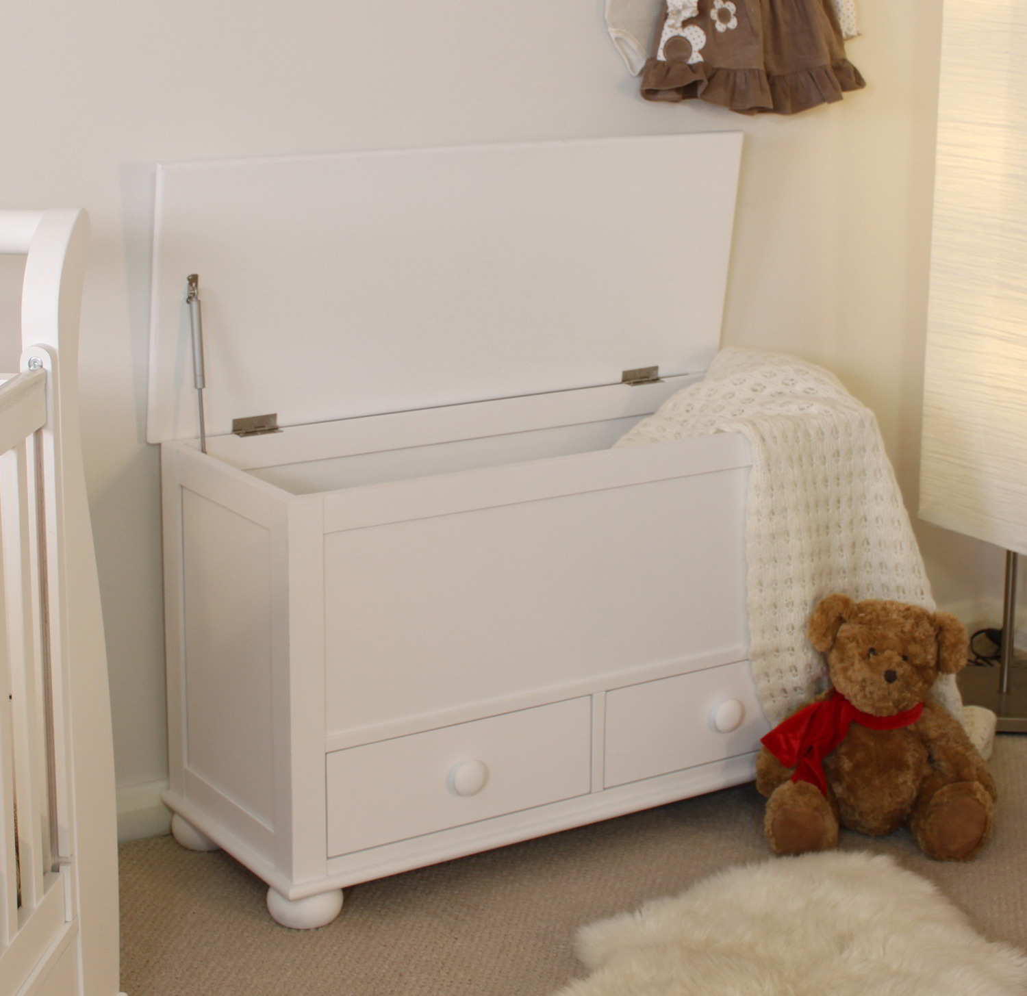 bedroom chair with blanket spandex covers ivory linden white painted childrens furniture toy