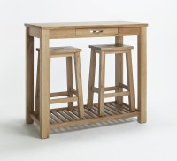 Compton solid oak kitchen furniture breakfast dining table ...