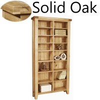 Panama solid oak furniture CD DVD media storage cabinet