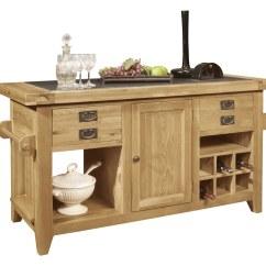 Kitchen Island Chairs Uk Chair Covers Job Lot Panama Solid Oak Furniture Large Granite Top Freestanding