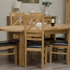 Solid Oak Dining Table And Chairs Lounge Chair Covers Regent Furniture Oval Extending