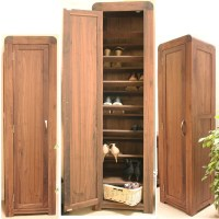 Strathmore solid walnut furniture shoe cupboard cabinet ...