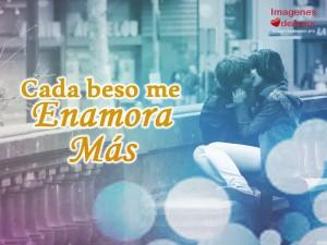 imagenes con frases romanticas para enamorados - cada beso