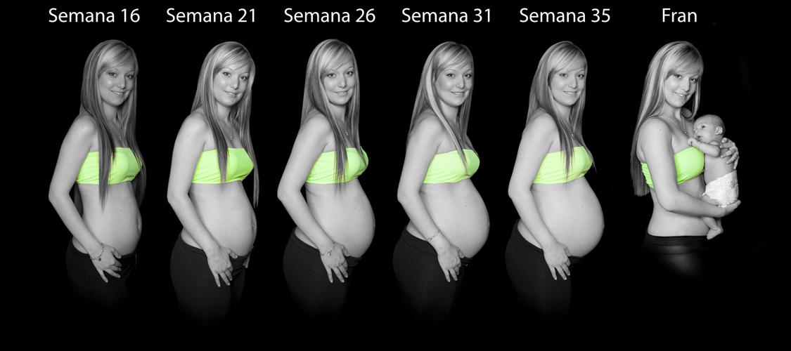Sesión fotografías de embarazo mes a mes