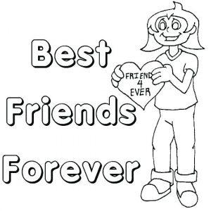Imagenes De Best Friends Forever Para Colorear