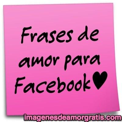 Frases de amor para usar en Facebook