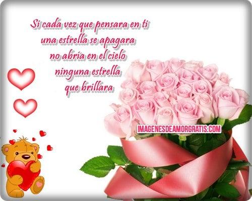 imagenes de amor con osito y flores