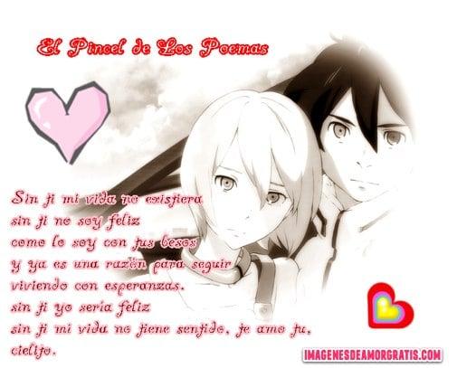imagenes de amor con versos