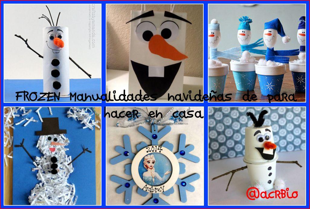 Frozen manualidades navide as de para hacer en casa for Materiales para manualidades navidenas