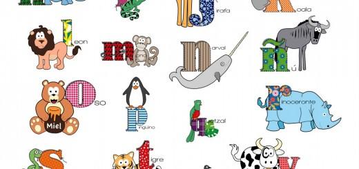 el abecedario de los animalesabecedario animales