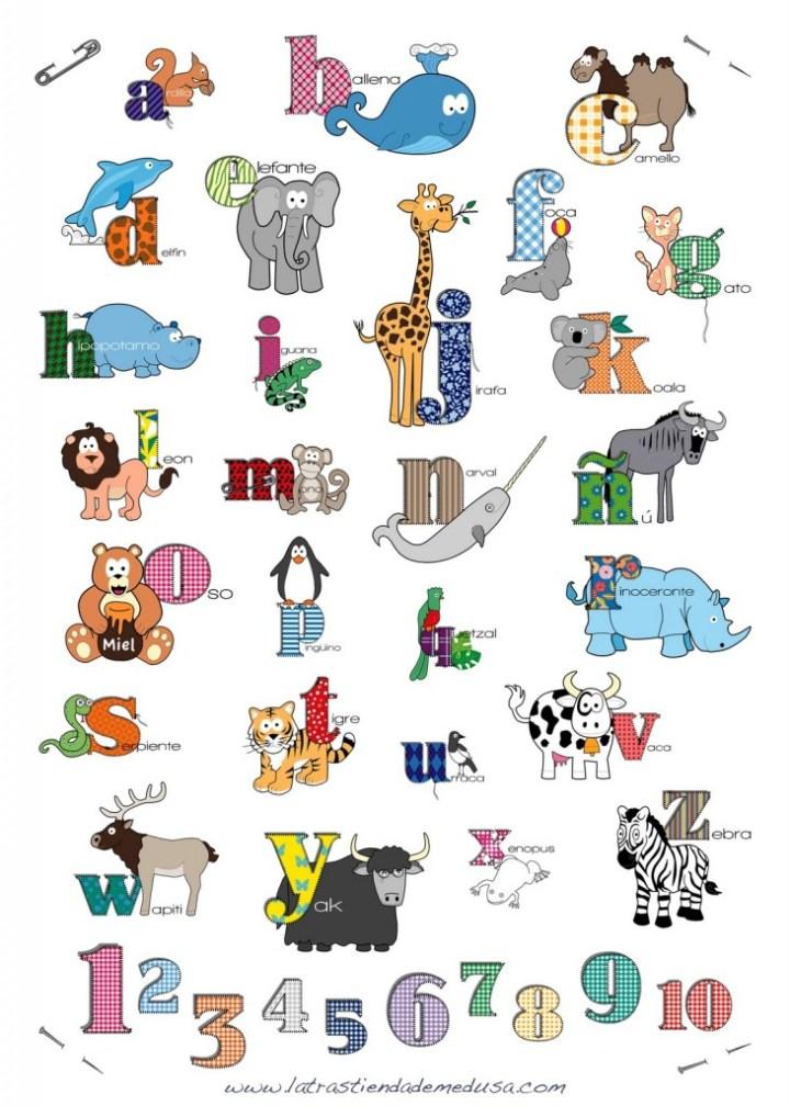 Divertido abecedario con animales