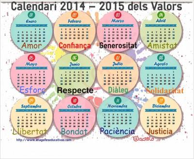 Calendario valores catalan
