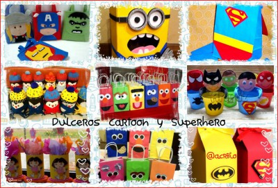 Dulceros dibujos animados Collage