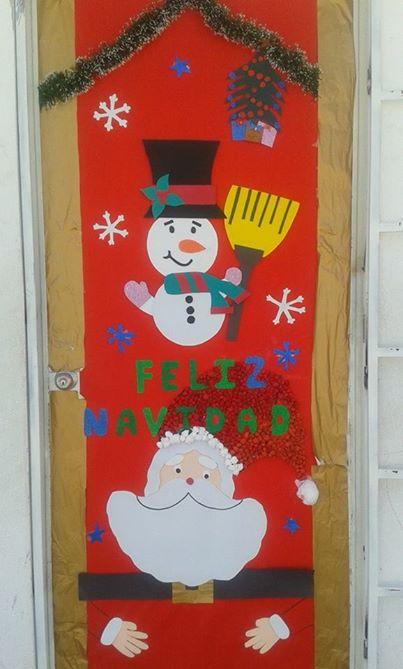 Manualidades navide as puertas imagenes educativas for Como decorar una puerta en navidad