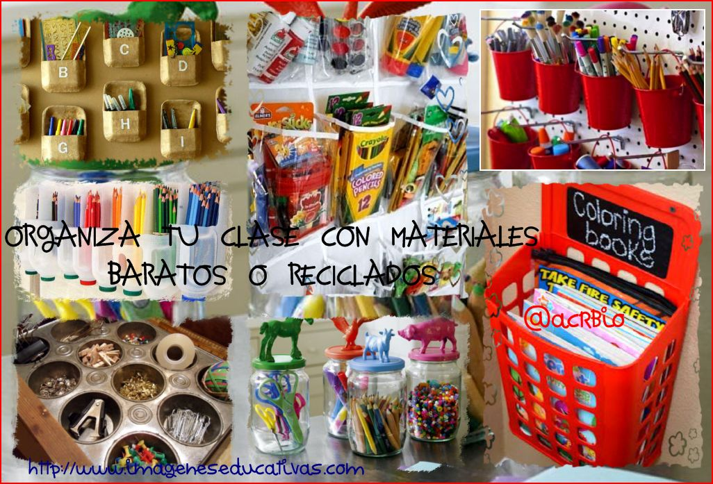 Ideas para organizar tu clase con materiales baratos o reciclados - Objetos para decorar un salon ...