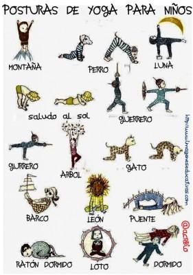 Posturas yoga para niños