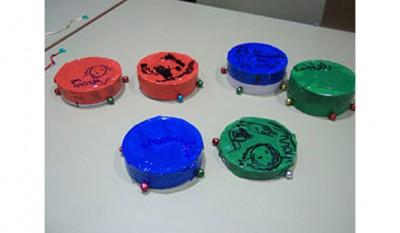 instrumentos musicales reciclados panderetas 1