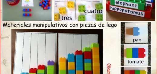 materiales manipulativos lego Collage