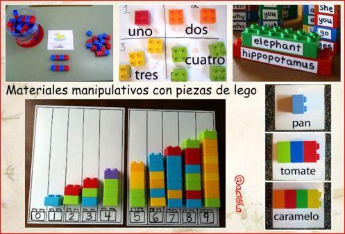 materiales manipulativos lego Collage