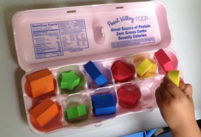 Idea para trabajar con las hueveras de cartón diferentes conceptos en preescolar 2