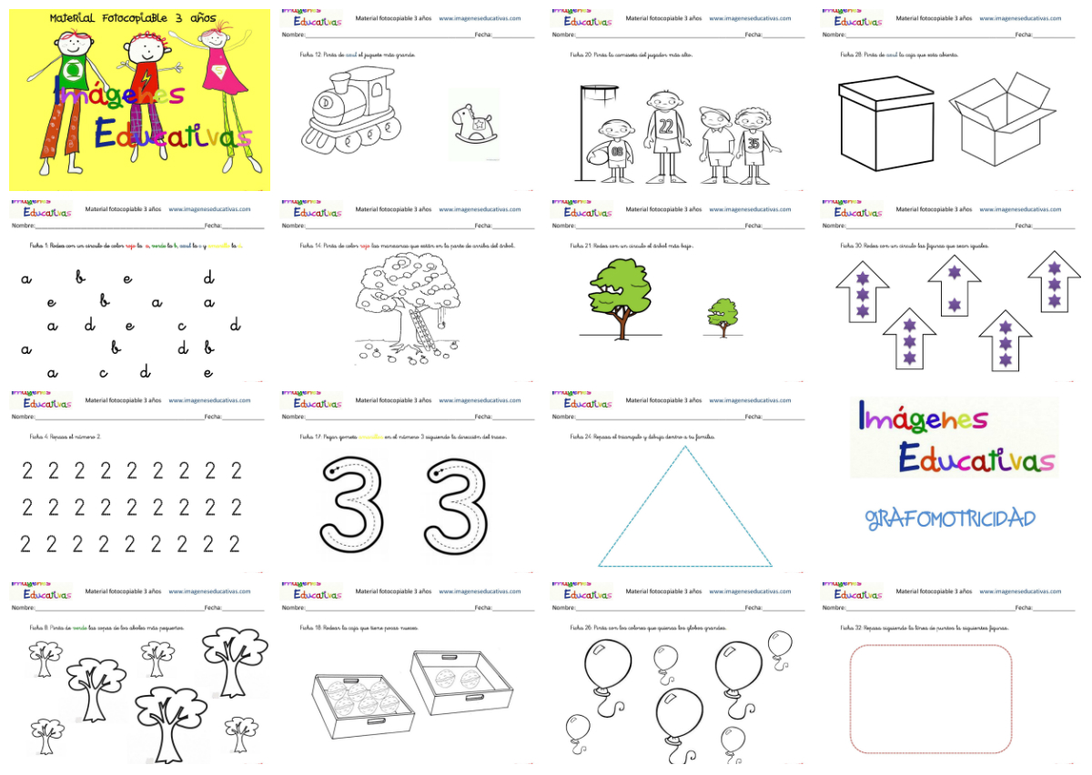 Cuadernillo de 40 actividades para 3 años, Educación Preescolar
