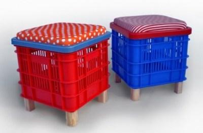 Bonitos y divertidos muebles infantiles con materiales for Muebles con material reciclado