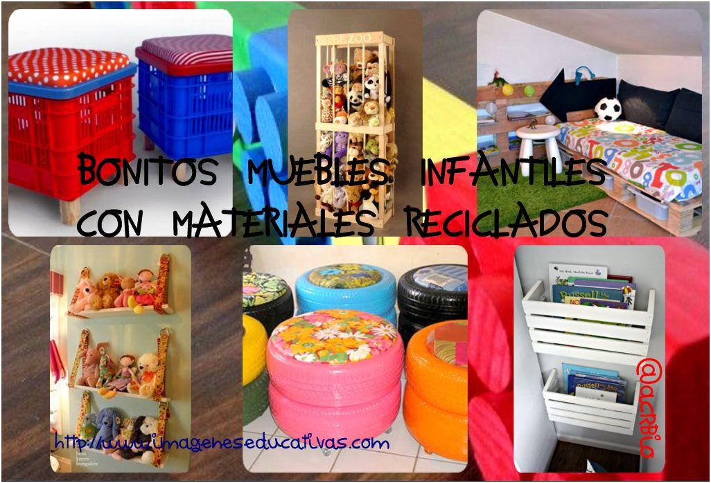 Bonitos y divertidos muebles infantiles con materiales - Material para jardin ...