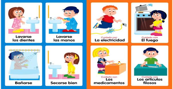 Habitos imagenes educativas for Parrilla de actividades casa del agua