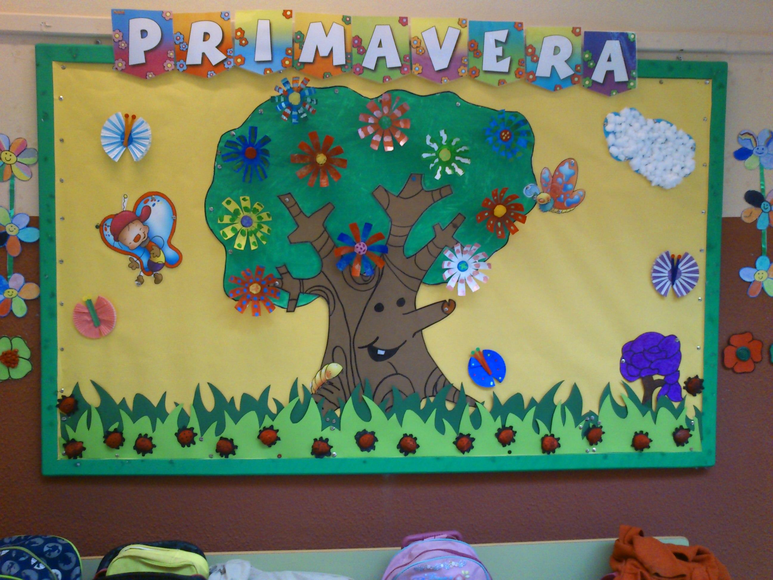 Murales primavera 13 imagenes educativas for Decoracion primavera infantil