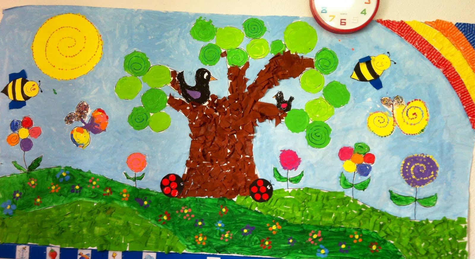Murales primavera 4 imagenes educativas for Murales infantiles para preescolar