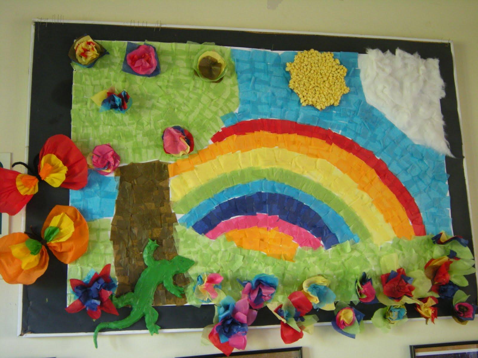 Murales primavera 7 imagenes educativas for Decoracion puerta aula infantil