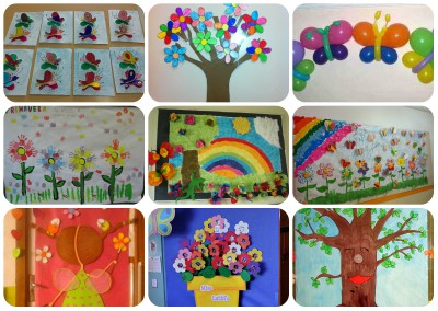 collage decoración primavera