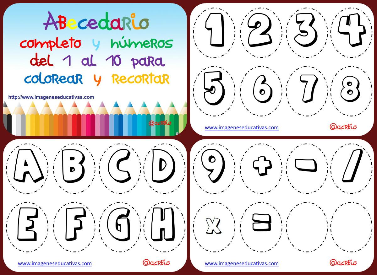 Abecedario para colorear Collage - Imagenes Educativas