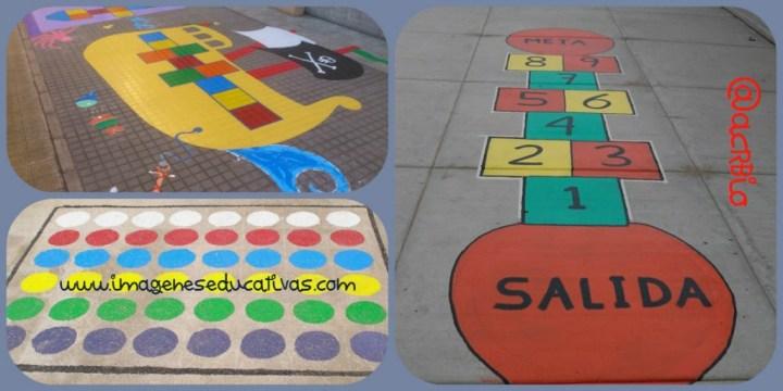 Decoracion patio colegio Collage