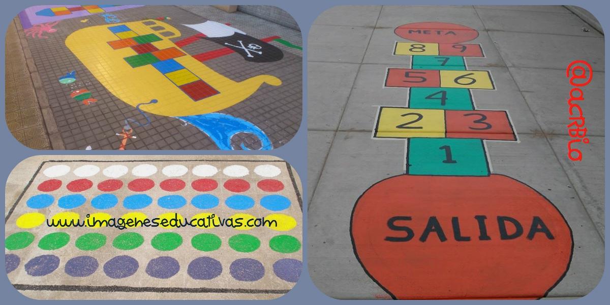 Juegos tradicionales para el patio del cole. Pinta tu patio para jugar