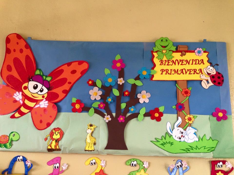 Murales primavera 2 imagenes educativas for Decoracion primavera infantil