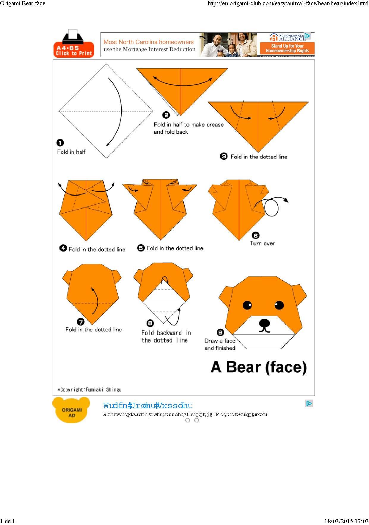 Origami Caras de Animales_Página_4 - Imagenes Educativas