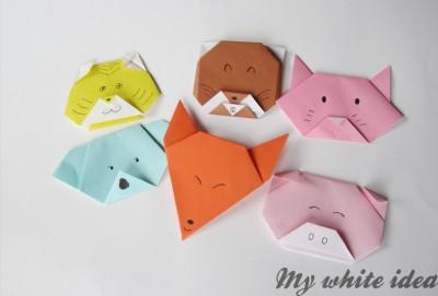 Origami caras de Animales