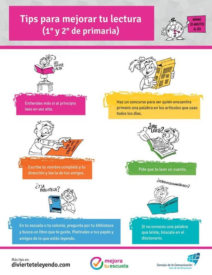 Tips para mejorar tu lectura (1° y 2° de primaria)