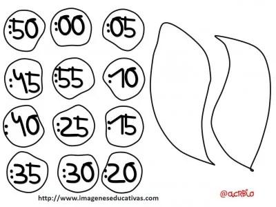 reloj - clock plantillas - templete  -  (5)