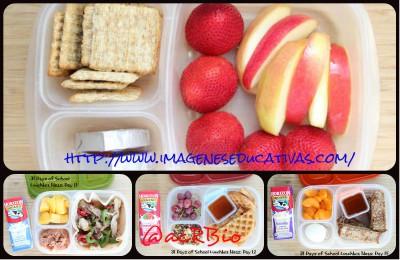 Almuerzos saludables para niñ@s Collage