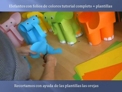 Elefantes con folios de colores tutorial (8)