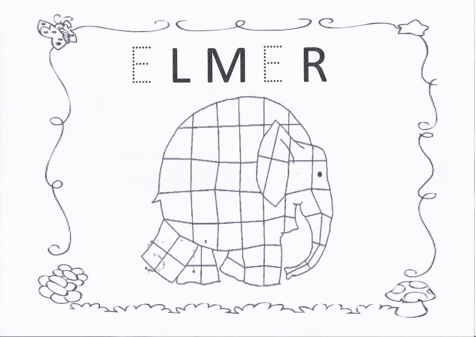 Fichas Elmer 8 Imagenes Educativas
