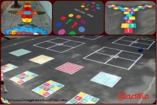 Juegos tradicionales patio colegio Collage 2
