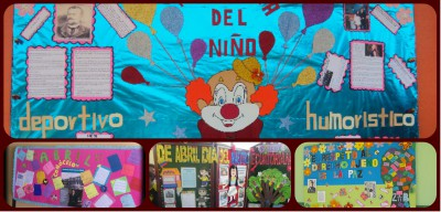 Periodico mural Abril collage