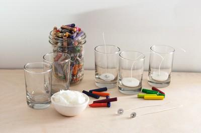 Reciclamos nuestras ceras y crayones para convertirlos en velas decorativas.  (1)