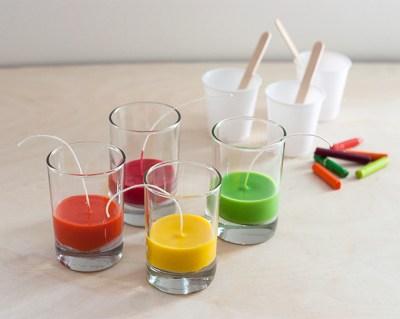 Reciclamos nuestras ceras y crayones para convertirlos en velas decorativas.  (3)