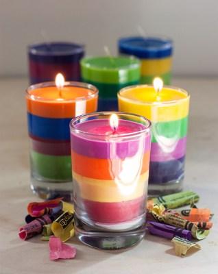 Reciclamos nuestras ceras y crayones para convertirlos en velas decorativas.  (7)